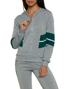 Marled Color Block Detail Sweatshirt - 3056063401990