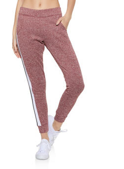 Marled Color Block Detail Sweatpants - 3056063401991