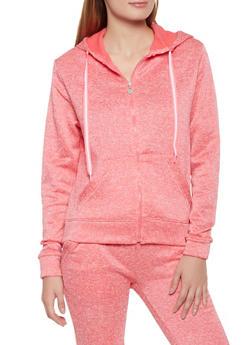 Fleece Lined Marled Sweatshirt - 3056063402070
