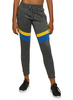 Love Zipper Color Block Joggers - 3056063402511