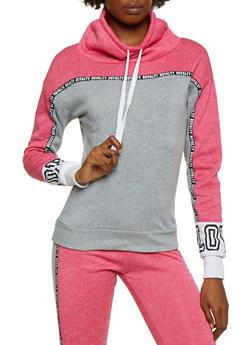 Color Block Royalty Graphic Tape Sweatshirt - 3056063402760