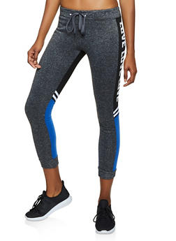 Love Color Block Joggers - 3056063402791