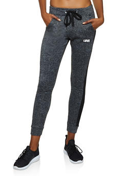 Love Jersey Mesh Detail Joggers - 3056063404191