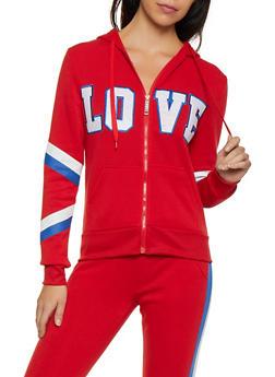 Love Zip Up Sweatshirt - 3056063404330