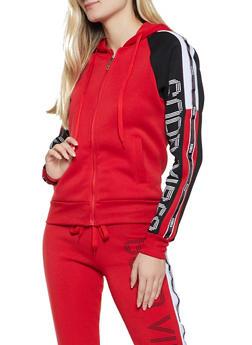 Good Vibes Color Block Sweatshirt - 3056063404490