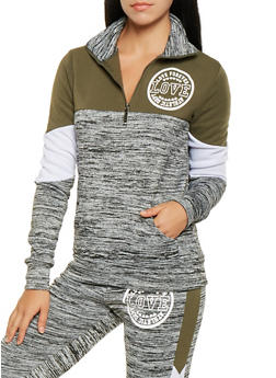 Graphic Half Zip Sweatshirt - 3056063404694