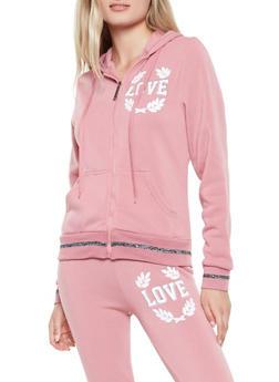 Sequin Love Graphic Sweatshirt - 3056063407914