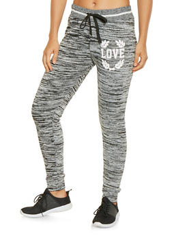 Love Graphic Sweatpants - 3056063407915