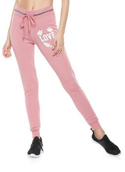 Love Graphic Sweatpants - 3056063407915