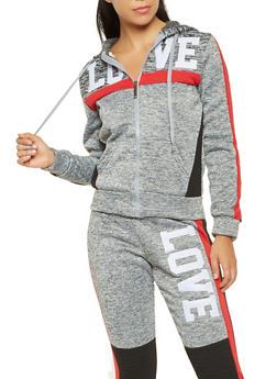 Love Graphic Hooded Sweatshirt - 3056063407937