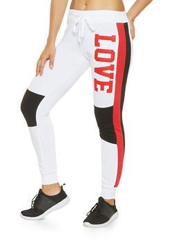 Love Graphic Moto Joggers - 3056063407938