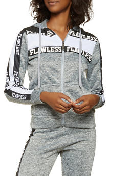 Flawless Graphic Hooded Sweatshirt - 3056063408015