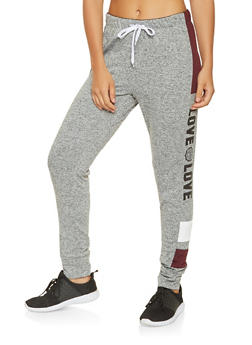 Love Graphic Joggers - 3056072290751