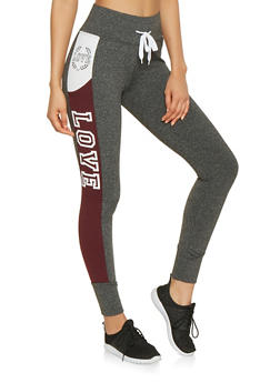 Love Graphic Joggers - 3056072290961
