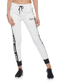 Love Graphic Sweatpants | 3056072291873 - 3056072291873