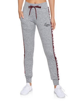 Love Graphic Joggers - 3056072291921