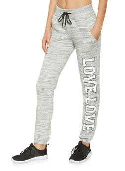 Love Graphic Sweatpants - 3056072292021