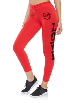 Love Graphic Joggers - 3056072292091