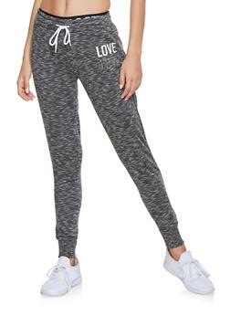 Love Graphic Sweatpants - 3056072292391