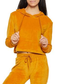 Velour Cropped Sweatshirt - 3056072292400