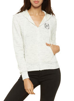 Embroidered Love Graphic Sweatshirt - 3056072292410