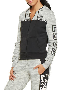 Love Graphic Hooded Sweatshirt - 3056072292430
