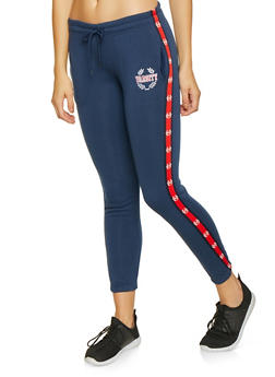Graphic Tape Detail Sweatpants - 3056072292451