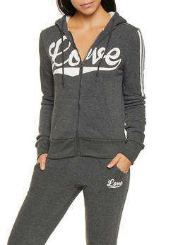 Love Graphic Sweatshirt - 3056072292530