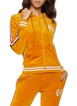 Love Graphic Velour Sweatshirt - 3056072292540