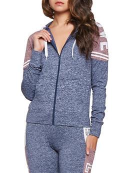 Love Graphic Zip Up Sweatshirt - 3056072292600