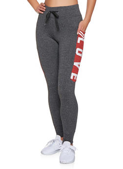 Love Graphic Joggers - 3056072292601