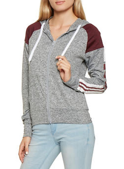 Love Graphic Color Block Hoodie - 3056072292630