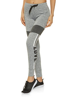 Marled Love Graphic Joggers - 3056072292631