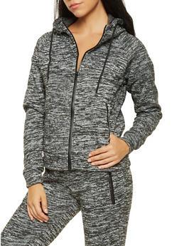 Space Dye Zip Front Sweatshirt - 3056072292640