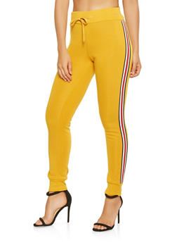 Striped Tape Trim Sweatpants - 3056072292771