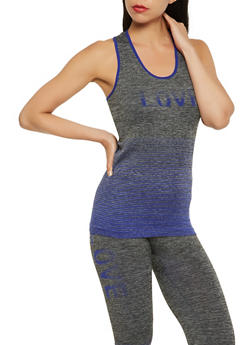 Love Graphic Activewear Tank Top - 3058038340010