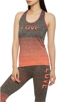 Love Graphic Activewear Tank Top - 3058038340010