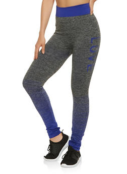Love Graphic Activewear Leggings - 3058038340011