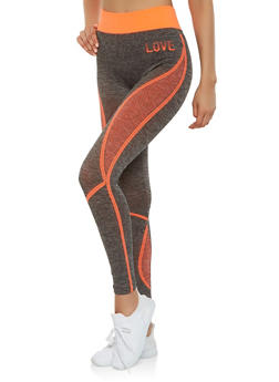 Love Graphic Leggings - 3058038340021