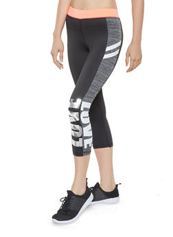 Love Graphic Active Capri Leggings - 3058038345611