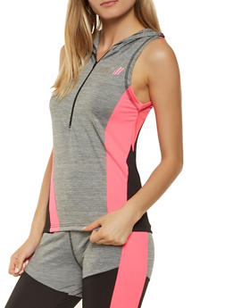 Color Block Hooded Active Top - 3058038345620