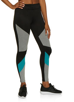 Color Block Soft Knit Leggings - 3058060581131
