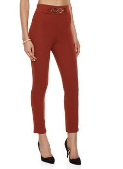 Chain Link Detail Dress Pants - 3061020622377