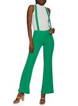 Flared Suspender Pants - 3061020623362