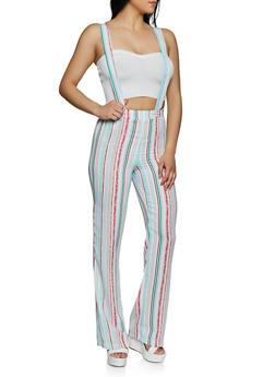 Striped Suspender Pants - 3061020623369