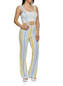 Striped Suspender Pants - 3061020623369