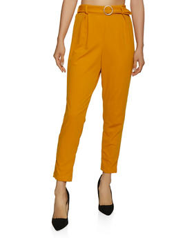 O Ring Belted Dress Pants - 3061020624147