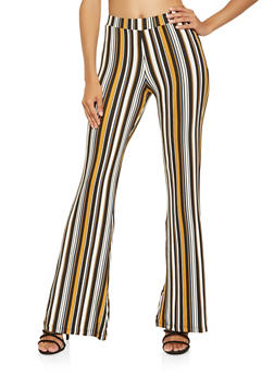 Striped Flared Pants - 3061020624512