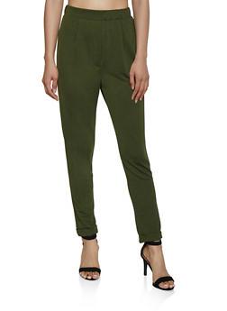 Crepe Knit Fixed Cuff Pants - 3061020624681