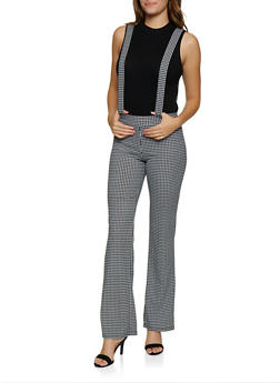 Houndstooth Suspender Pants - 3061020626362